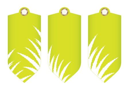special price tag with aloe vera design Stock Vector - 20989985