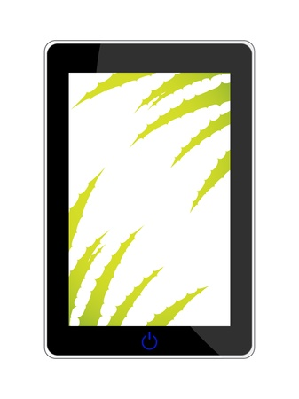 smart phone - realistic vector illustration with aloe vera design Stock Vector - 20989986