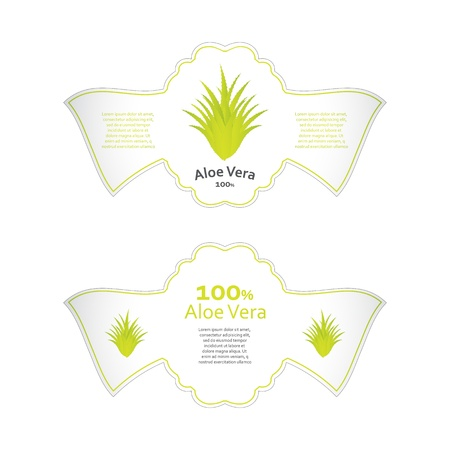 aloe vera labels with special design Stock Vector - 20989987
