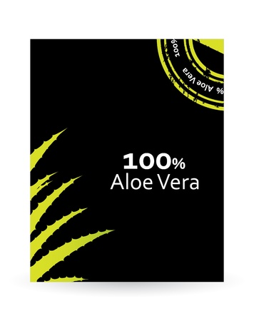 aloe vera plant: special flyer with aloe vera design Illustration
