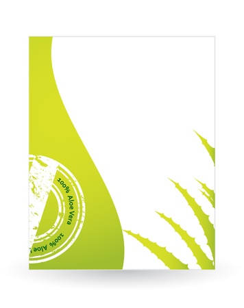 special flyer with aloe vera design Stock Vector - 20989990