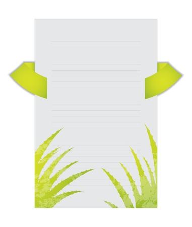 flyer with aloe vera design Stock Vector - 21083076