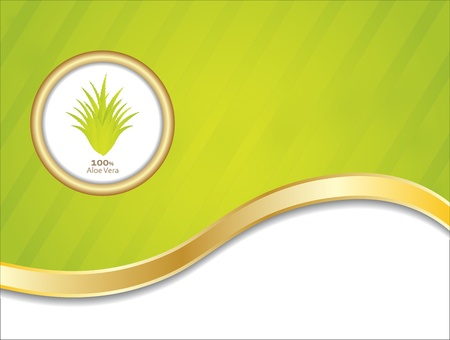 special aloe vera background Vector