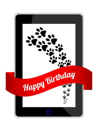 happy birthday gift with special design Vector