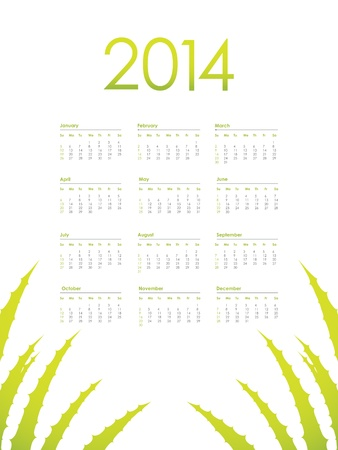 calendar with Aloe Vera design Vector