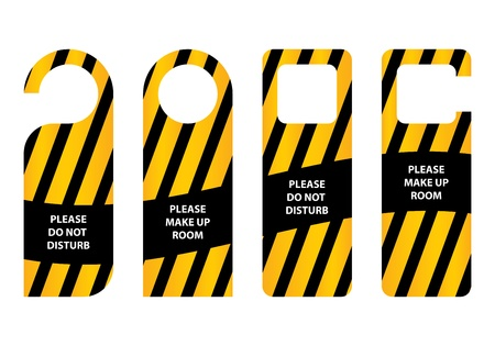do not disturb sign: hotel do not disturb door hanger  Illustration