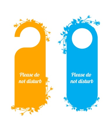 door tags with special floral design Vector