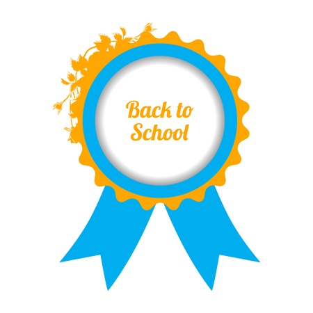 back to school sign with special floral design Vector