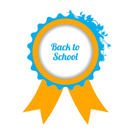 back to school sign with special floral design Stock Vector - 21488098