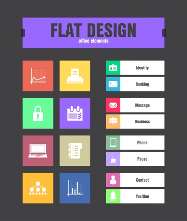 special flat ui icons for web and mobile applications Vector