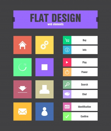 search bar: special flat ui icons for web and mobile applications