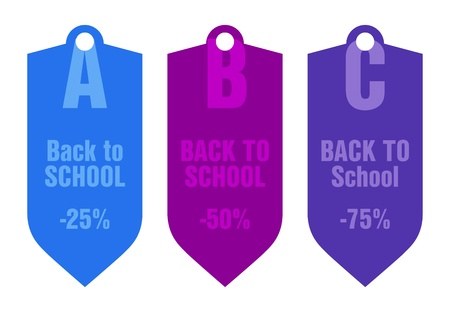 back to school price tag Stock Vector - 21773823
