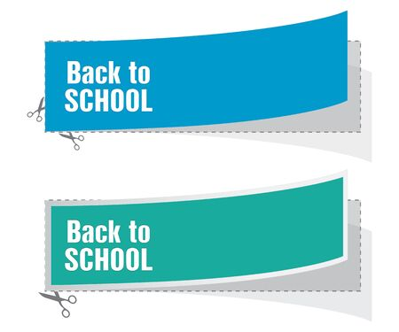 back to school advertising labels Stock Vector - 22010627