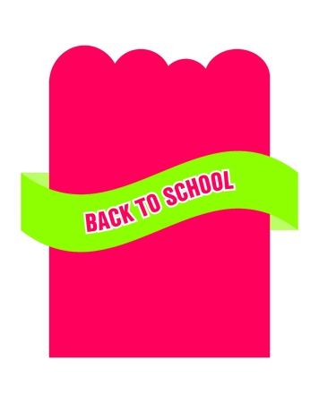 back to school advertising flyer Stock Vector - 22010633
