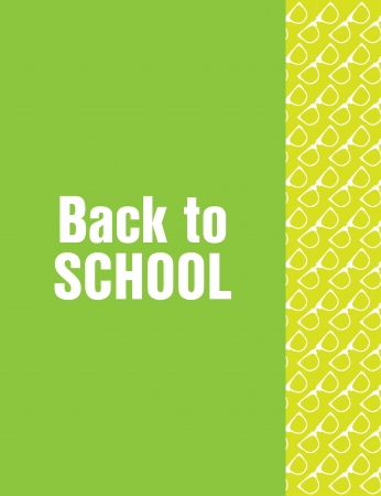 back to school flyer with hipster design Vector
