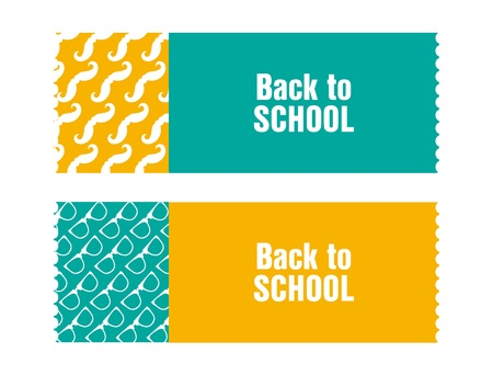 back to school ticket with hipster design Vector
