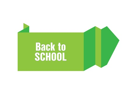 back to school origami design Vector