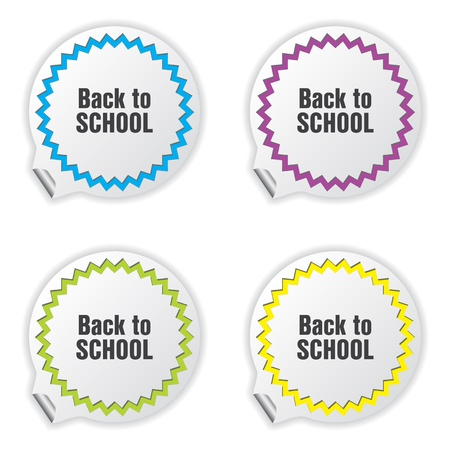 back to school tickets with special design Stock Vector - 22010644