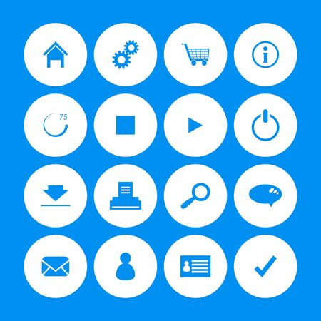 various web icons with special design Vector