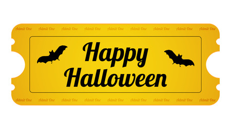 Halloween Party Ticket with special design Vector