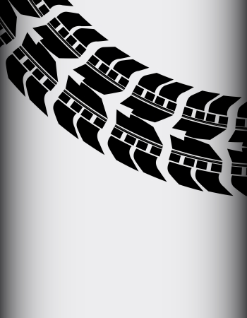tire track for transportation website Stock Vector - 23079807