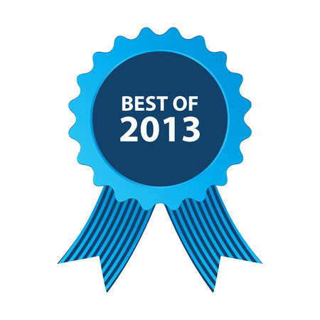 blue best of 2013 badge with ribbonblue best of 2013 badge with ribbon Vector