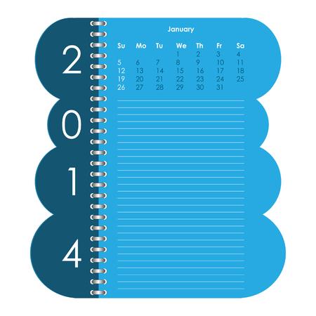 Vector calendar for 2014 Stock Vector - 23079929