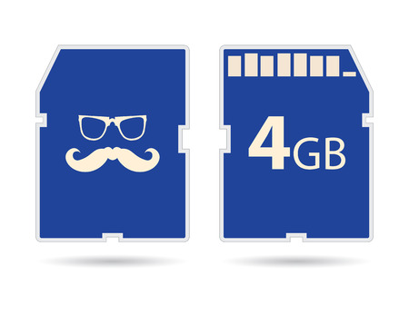 sd: Vector memory SD card with hipster design Illustration