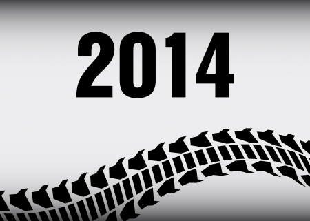 tire track 2014 background Vector