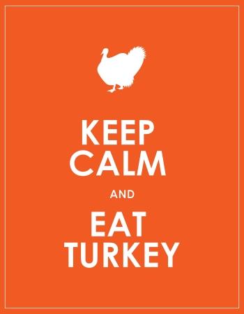thanksgiving day symbol: mantenere la calma e mangiare tacchino sfondo