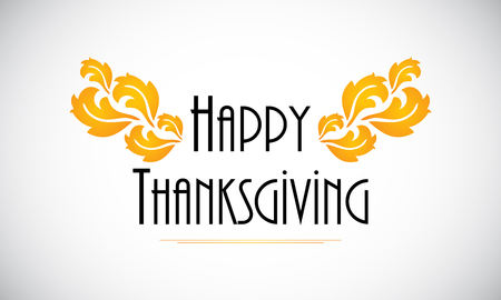 Happy Thanksgiving  background with special flower design