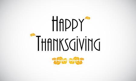 Happy Thanksgiving  greeting card, vector design Illustration