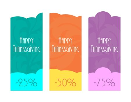 Happy Thanksgiving labels Vector
