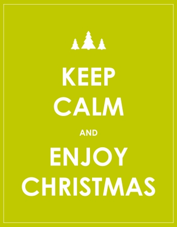 a holiday greeting: keep calm modern christmas background