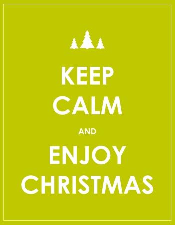 felicitaciones navide�as: mantener la calma de fondo de Navidad moderna Vectores