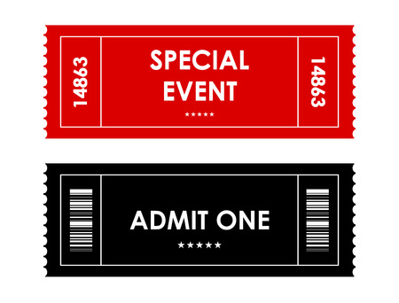 action movie: special red-black event ticket