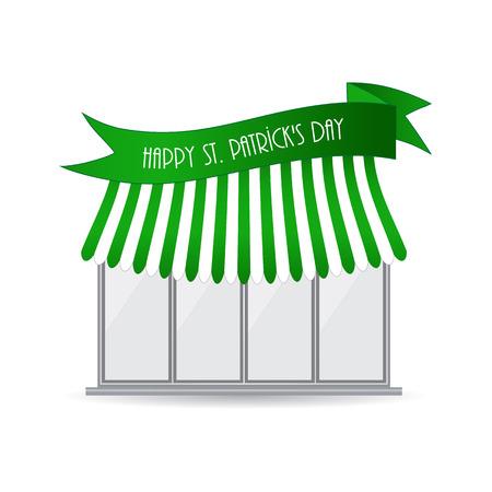 Happy St. Patricks day shop icon Illustration