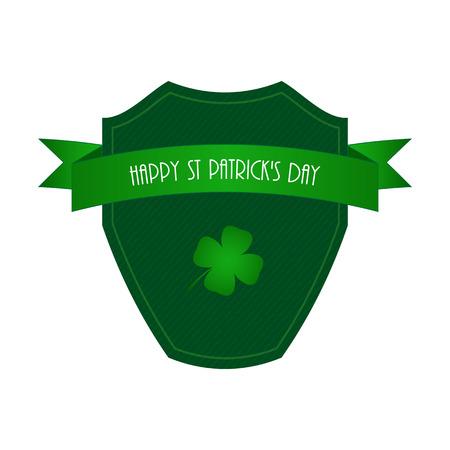 Happy St. Patricks day label Vector