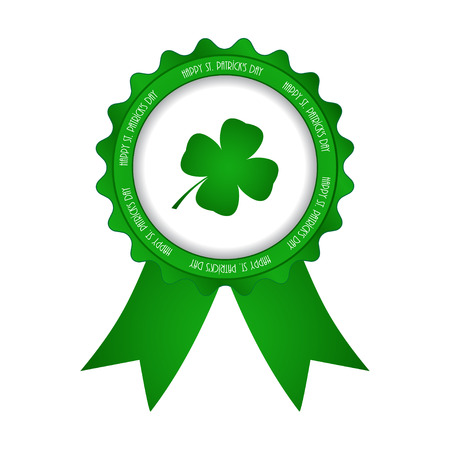 Happy St. Patricks day badge Vector