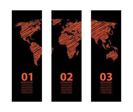 world trade: bandera con dise�o especial croquis