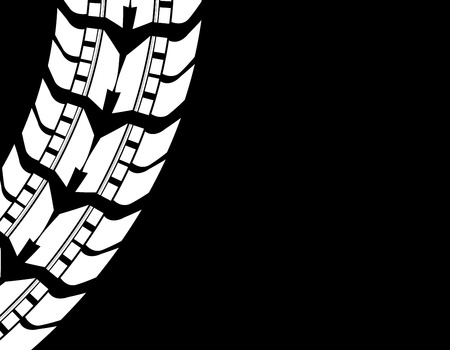 off road: special detailed tire prints