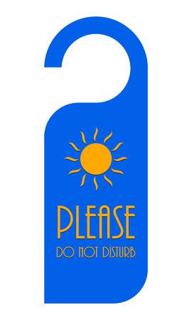 disturb: do not disturb door hanger