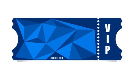 raffle ticket: Vector ticket with modern triangle design Illustration