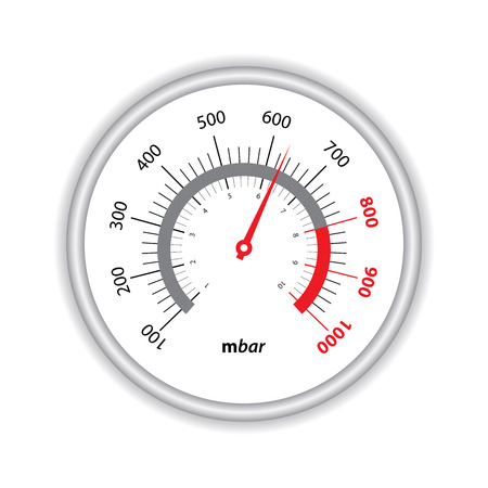manometer on white background Vector