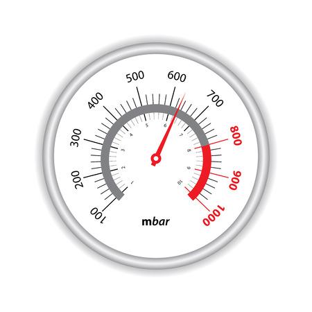 manometer: manometer on white background Illustration