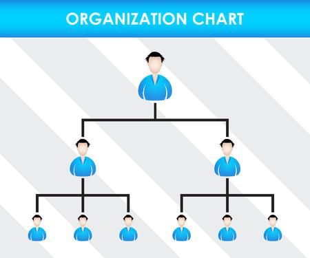 network marketing: Organization chart template