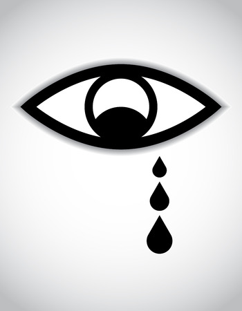 special sad eye icon Vector