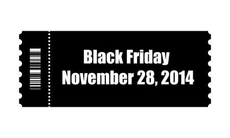 black friday ticket Vector