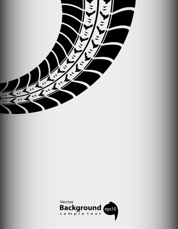 skid: abstract tire track background Illustration