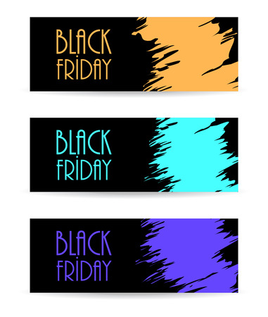 black paper banner with black friday design, vector illustration, eps10 Vector